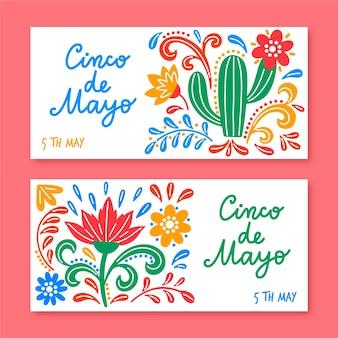 Cinco de mayo-thema voor banners