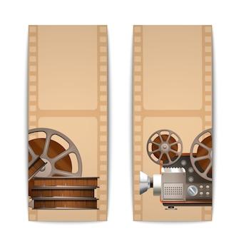 Cinema banners verticaal