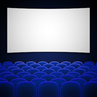 Cinema bioscoop interieur vectorillustratie