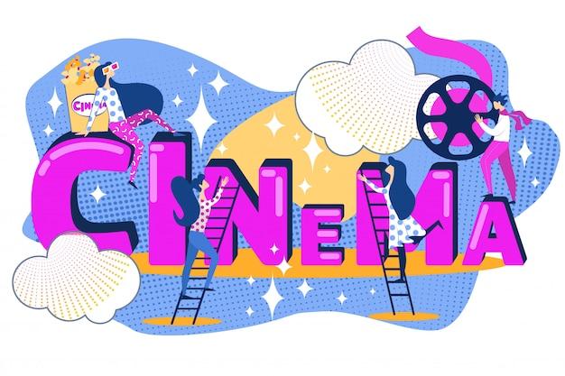 Cinema business film production team movie watch