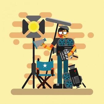 Cinema directeur ontwerp