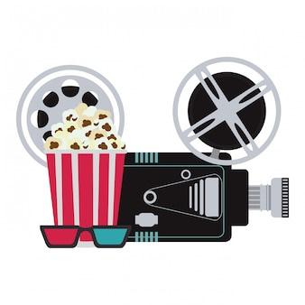 Cinema en films concept