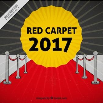 Cinema event 2017 achtergrond met een rode loper