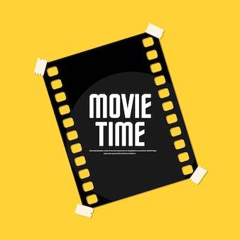 Cinema festival poster filmtijd. vector illustratie