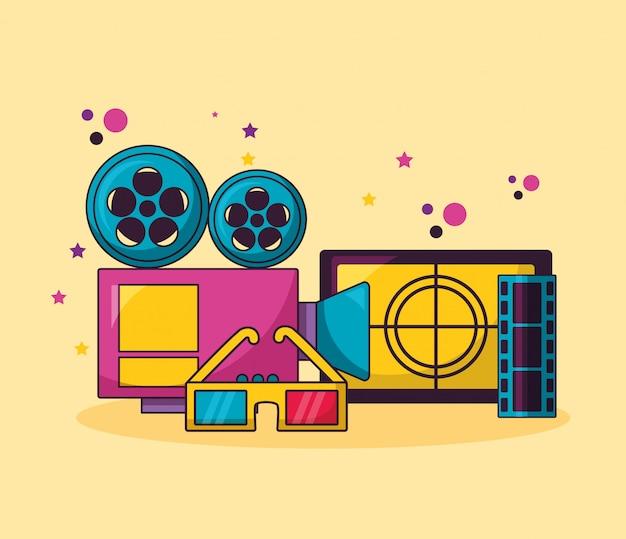 Cinema film illustratie