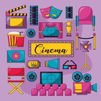 Cinema film illustratie