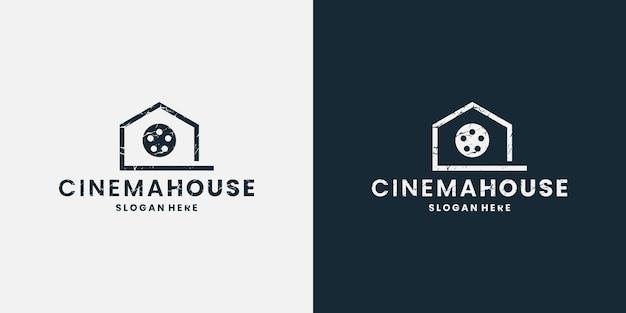 Cinema huis logo ontwerp cinematografie