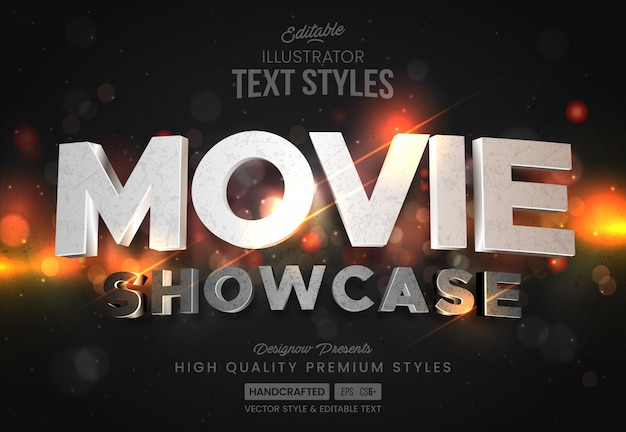 Cinema intro text style