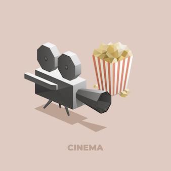 Cinema isometrische veelhoeken