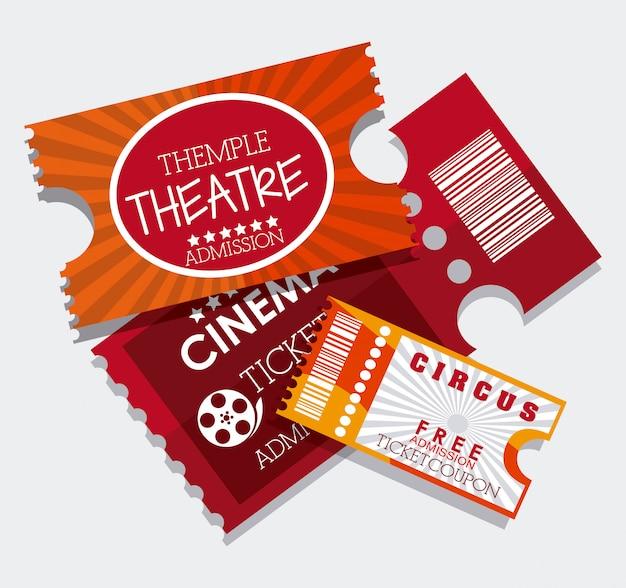 Cinema kaartjes ontwerp