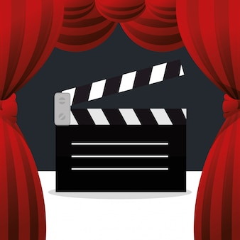Cinema klepel boord entertainment pictogram