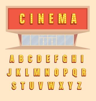 Cinema letters ontwerp
