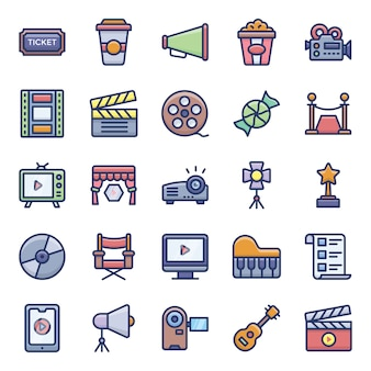 Cinema pictogrammen pack