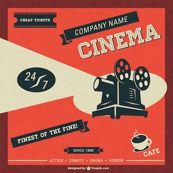 Cinema retro sjabloon gratis te downloaden