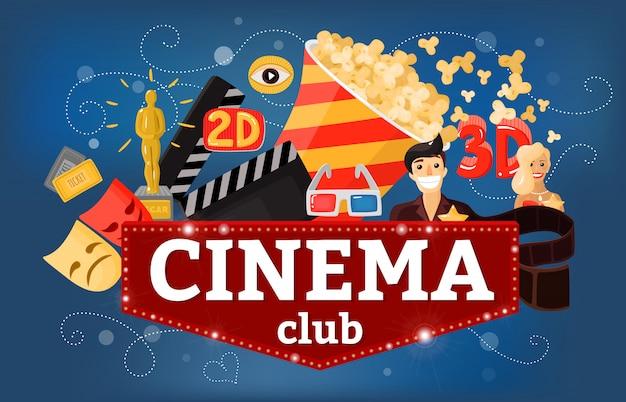Cinema theatre club achtergrond