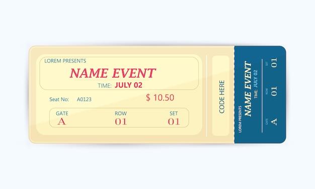 Cinema ticket card modern elementontwerp
