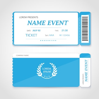 Cinema ticket card modern elementontwerp