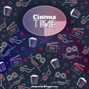 Cinema tijd achtergrond