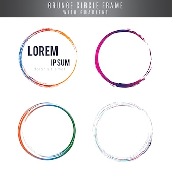 Circle frames in grunge style