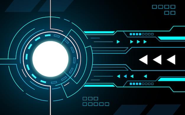 Circle technische interface hud