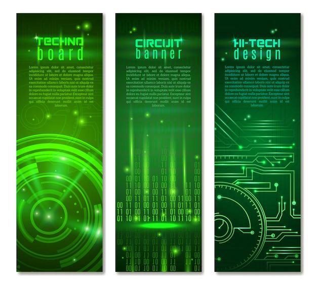 Circuit banner set