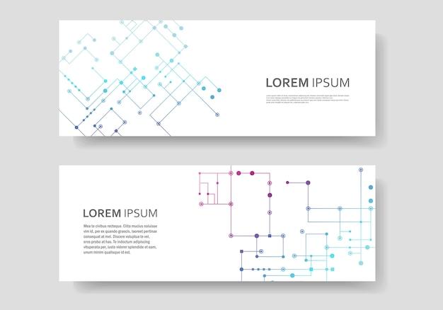Circuit lijn achtergrond, verbonden punten en lijnen. vector abstract ontwerp