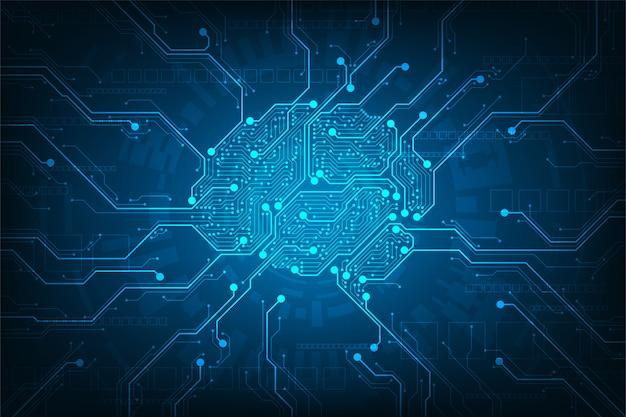 Circuit ontworpen in de vorm van hersenen.