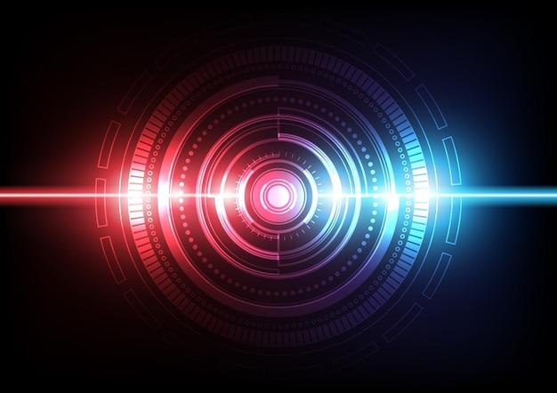 Circuit technische achtergrond met hi-tech digitaal gegevensverbindingssysteem en computer elektronisch design