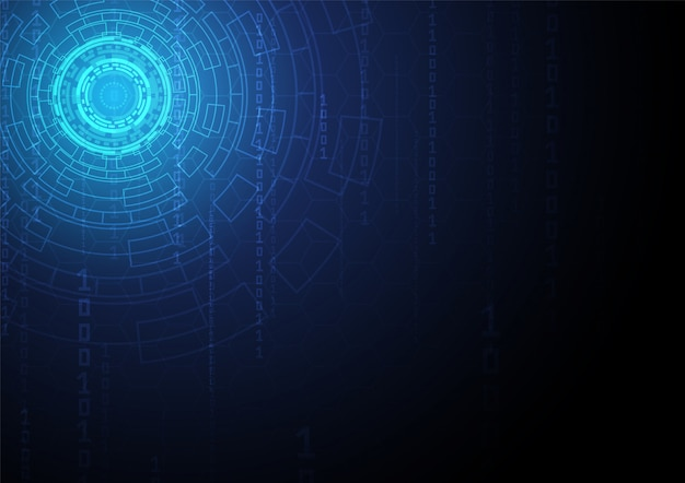 Circuit technologie achtergrond met hi-tech digitaal