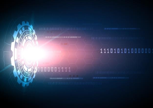 Circuit technologie achtergrond met hi-tech digitale data-verbindingssysteem en computer elektronische desing