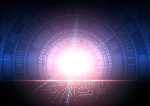 Circuit technologie achtergrond met hi-tech digitale gegevens