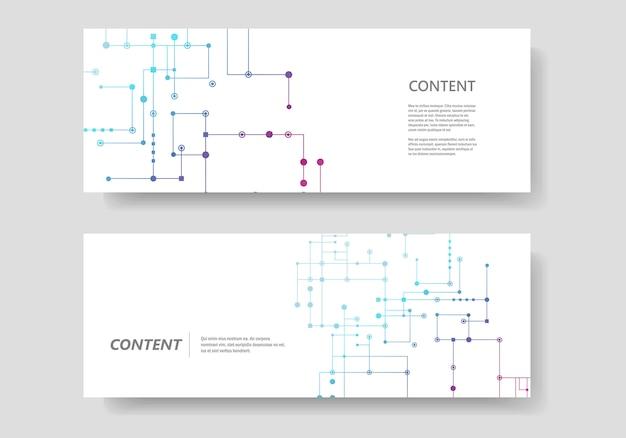 Circuitlijn, verbonden punten en lijnen. abstract