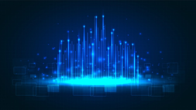 Circuittechnologie met hi-tech digitaal gegevensverbindingssysteem en computerelektronica