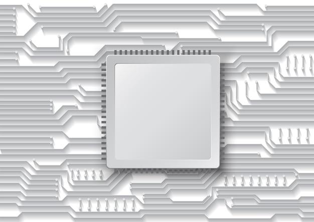 Circuittechnologieachtergrond met hi-tech digitaal dataverbindingssysteem en computer elektronisch ontwerp