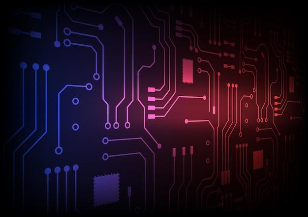 Circuittechnologieachtergrond met hi-tech digitaal gegevensverbindingssysteem en computer elektronisch ontwerp