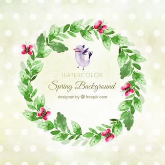 Circulaire aquarel lente achtergrond