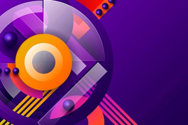 Circulaire geometrische achtergrond met kleurovergang
