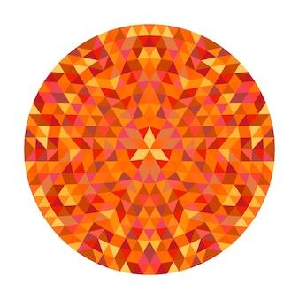 Circulaire geometrische driehoek mandala ontwerp - symmetrische vector patroon kunst uit kleur driehoeken