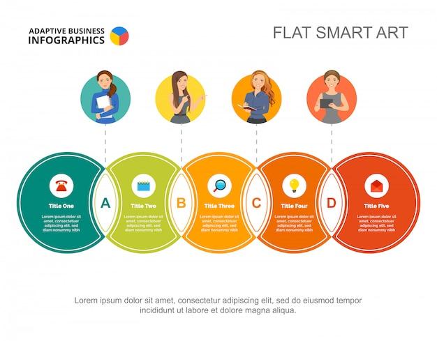 Circulaire infographic dia sjabloon. bedrijfsgegevens. grafiek, grafiek
