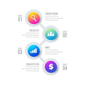 Circulaire infographic tijdlijn