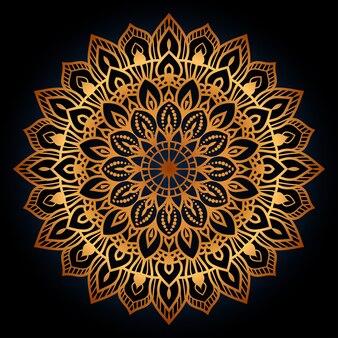 Circulaire mandala geïsoleerd voor henna of tattoo arabische islamitische oost-stijl