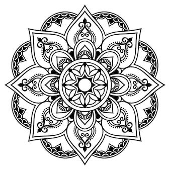 Circulaire mandala, mehndi. decoratief ornament in etnische oosterse stijl.