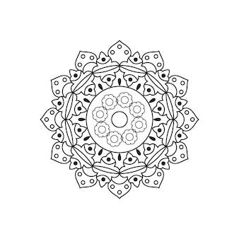 Circulaire mandala vector lineair ontwerp