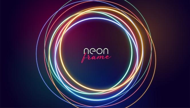 Circulaire neonframe kleurrijke lichten