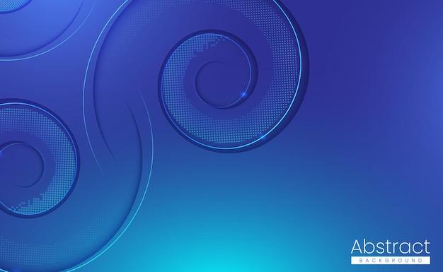 Circulaire papier gesneden abstracte achtergrond met glanzende whirlpool vormen
