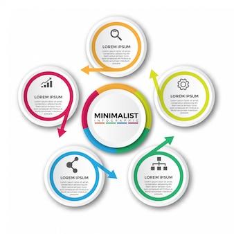 Circulaire pijlen infographic ontwerpsjabloon
