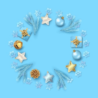 Circulaire samenstelling van kerstversiering