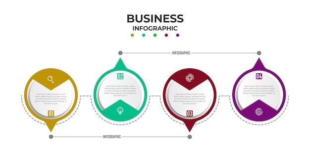 Circulaire tijdlijn stappen infographics