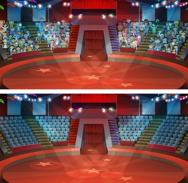 Circus arena vector set