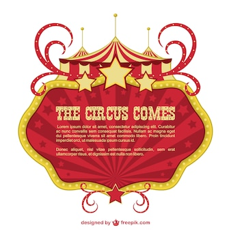 Circus banner showtime ontwerp